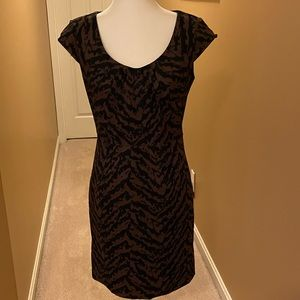 ADRIANNA PAPELL ANIMAL PRINT DRESS SIZE 8